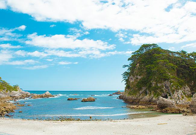 石白川海水浴場の写真