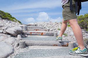 神引展望台の階段