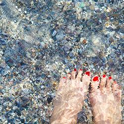 泊海水浴場の透明度