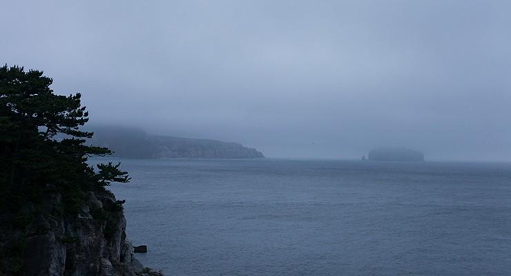 あいにく厚い雲に覆われてしまって朝日が拝めませんでした