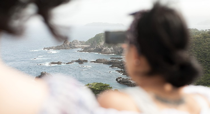 式根島の360度パノラマ絶景ポイント「神引展望台」。